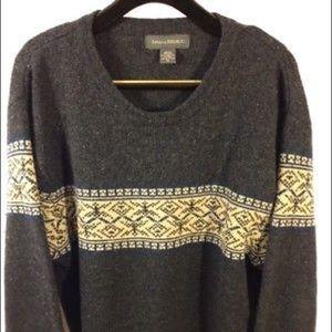 Banana Republic Men's XL Fair Isle Wool Sweater